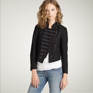 J. Crew black wool majorette military jacket 6